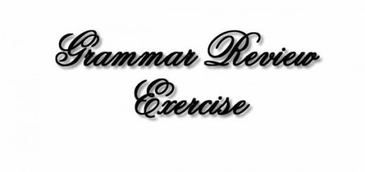 Grammar Exercise