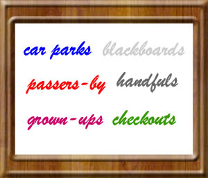 Plural of compound nouns