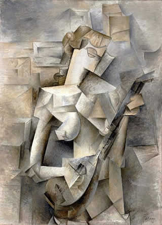Cubism - Pablo Picasso, 1910, Girl with a Mandolin